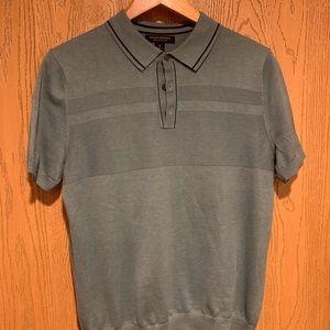 Men's Short Sleeve Collar Sweater